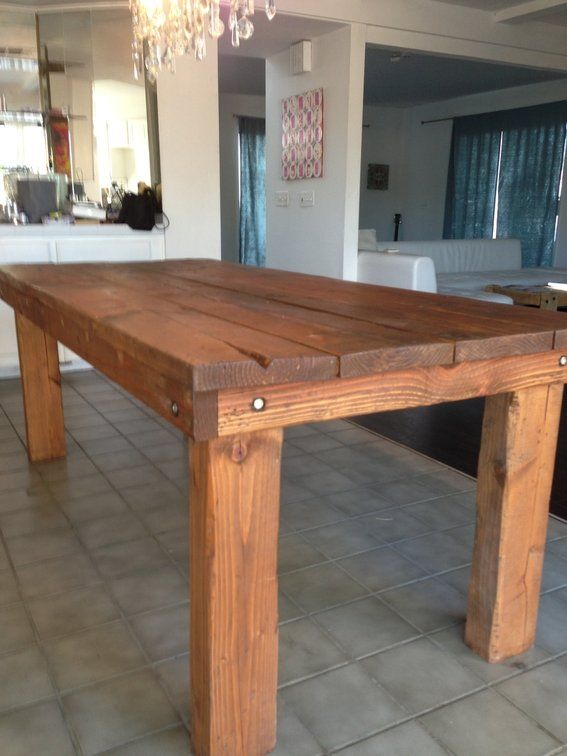 Rustic Farmhouse Dining Table For the Home
