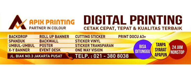 Apix Printing Jasa Digital Printing Cetak Banner Murah Jakarta Website Pinterest