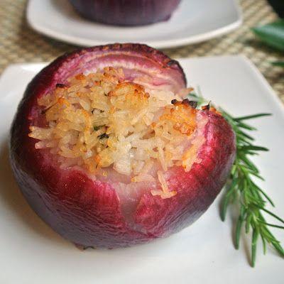 Roasted Stuffed Red Onions #recipe #glutenfree