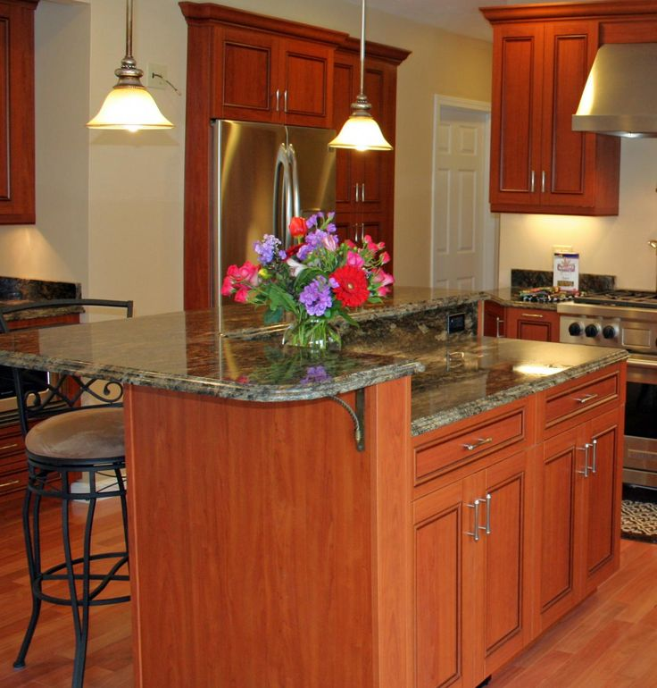 Two level kitchen island gallery of two level maple for Two level kitchen island