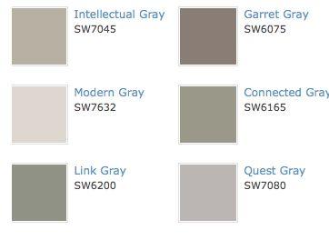 Intellectual Gray Paint Colors Pinterest