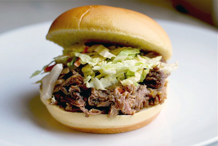North Carolina-style pulled pork sandwiches!