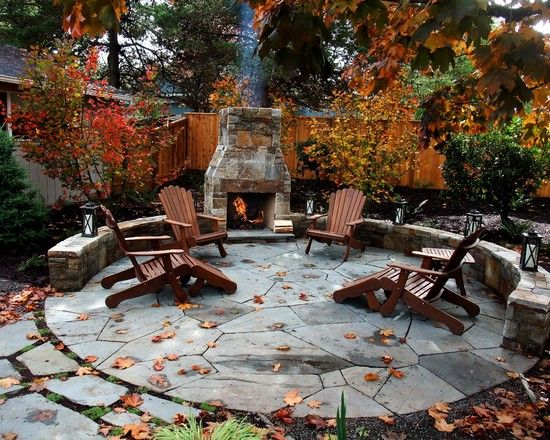 Amazing Outdoor Fireplace Patio For The Home Pinterest