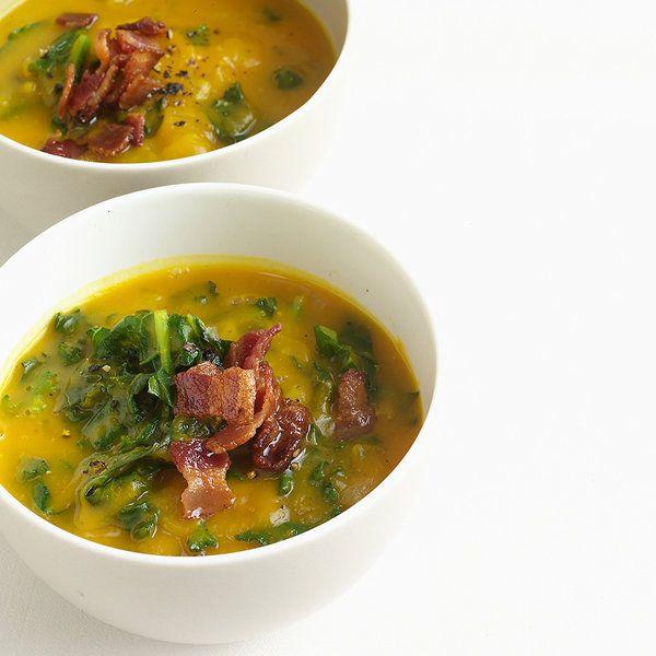 Acorn Squash Soup with Kale | Soups | Pinterest
