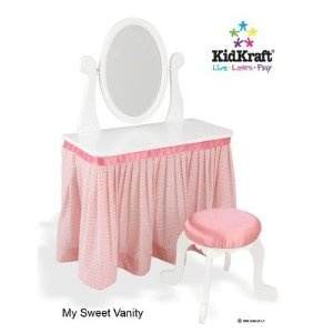 KidKraft My Sweet Vanity and Stool