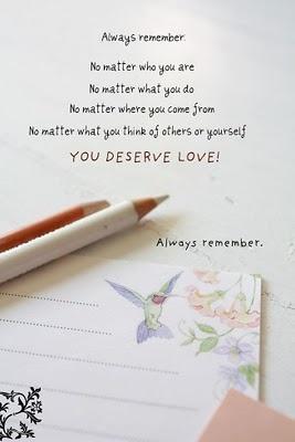 deserve love