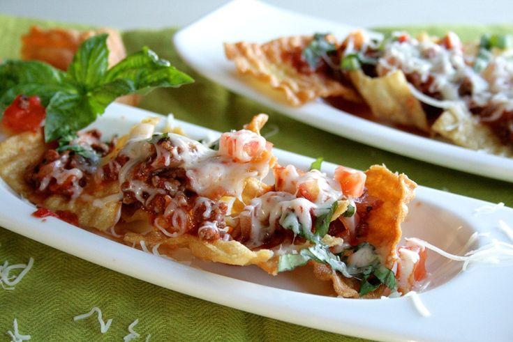 Spaghetti Nachos | Nachos | Pinterest