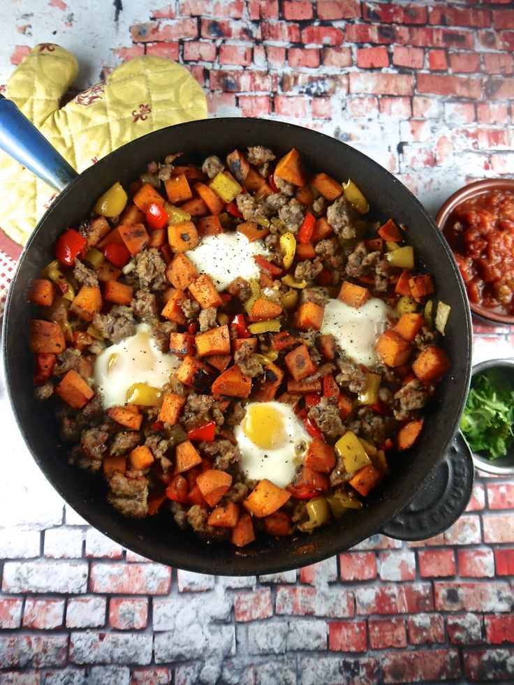 Egg, Sausage & Sweet Potato Hash | Eat: Breakfast - Hash | Pinterest