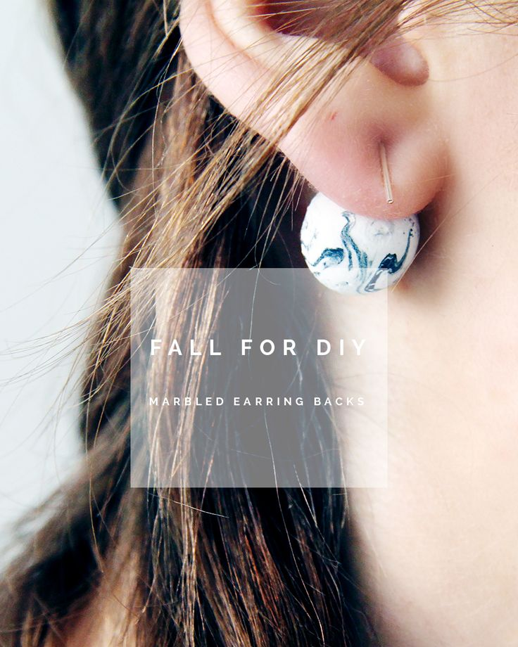 Fall For DIY - marbled earring backs