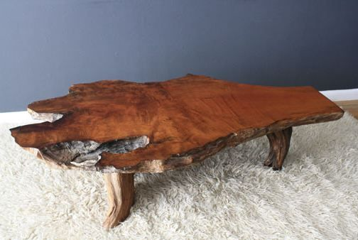 Raw Wood Coffee Table Home Pinterest