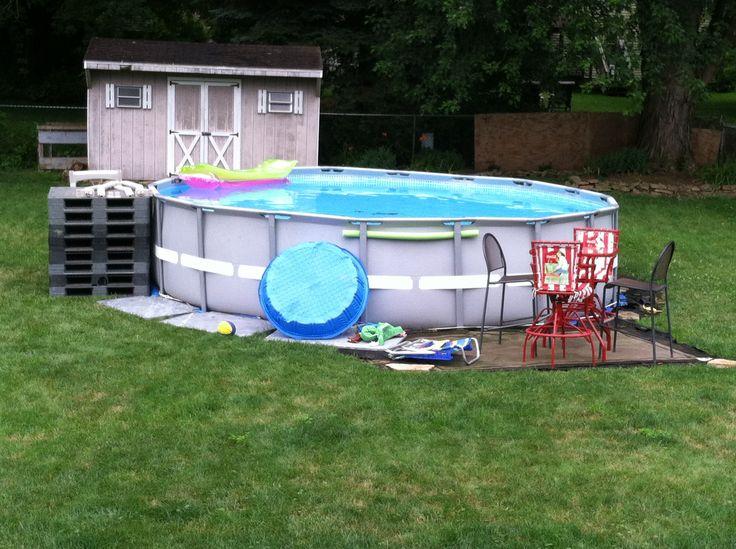 Diy Pool Deck Beauty Pinterest