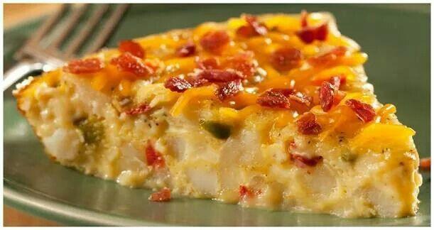 Egg, Potato, Bacon Skillet Bake | Breakfast | Pinterest
