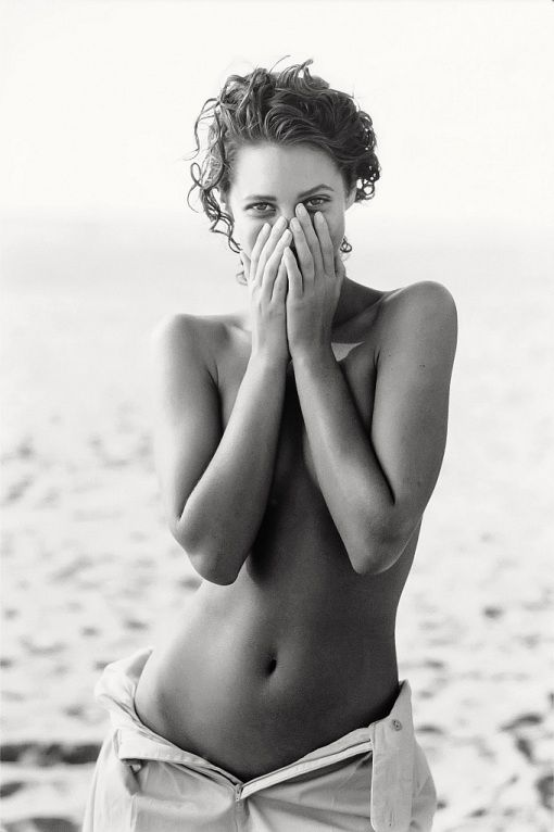 Peter Lindbergh - Christy Turlington, Los Angeles, for American Vogue, 1988