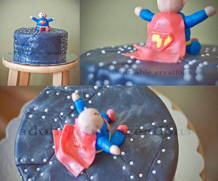 superman baby shower cake cakes pinterest