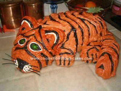 Pin Tiger Shaped Cake Cake On Pinterest