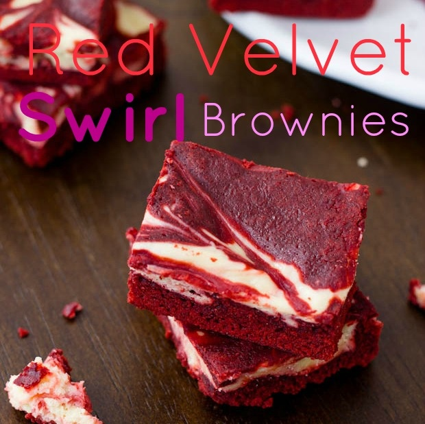 skinny peanut butter swirl brownies.
