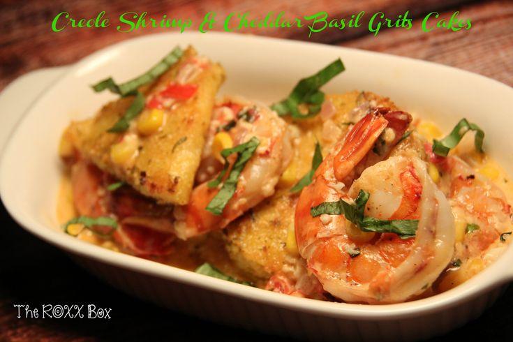 Creole Shrimp & Cheddar Basil Grits Cakes l The ROXX Box www ...