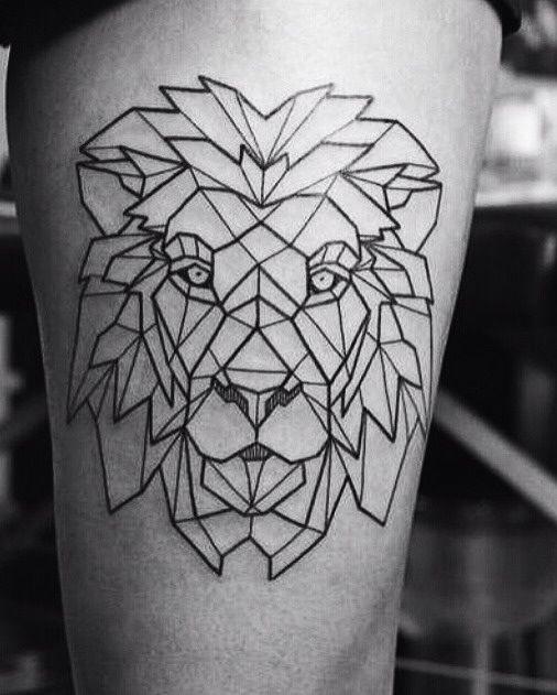 Geometric Lion Tattoo Tattoos Pinterest
