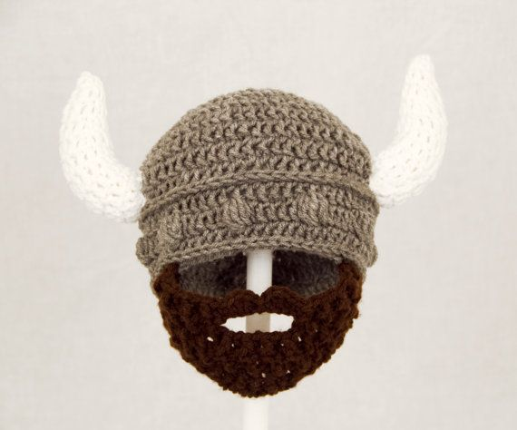 Crochet Viking Hat With Beard : Viking Beard Hat Crochet Viking Dwarf,Roman Warrior,Medieval Knight ...