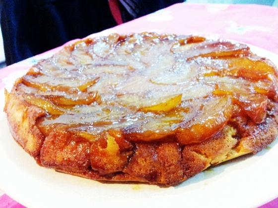 Warm Apple-Cornmeal Upside-down Cake | Home Cooking | Pinterest
