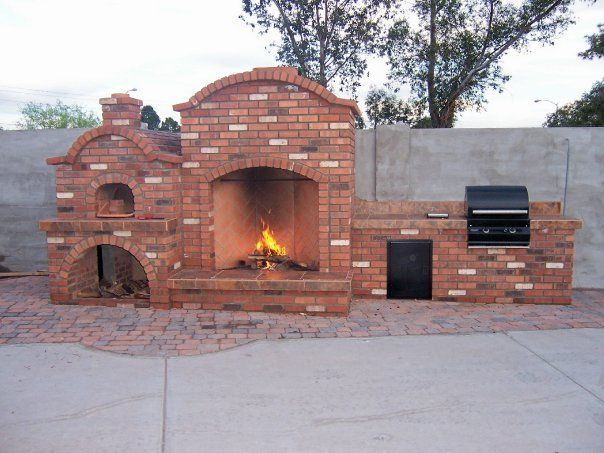Outdoor Fireplace Pizza Oven And Bbq Outdoors Pinterest
