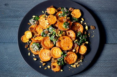 Roasted Yams with Citrus Salsa | foodspiration | Pinterest