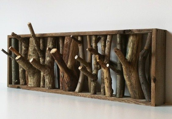 Tree branch coat rack  Craft ideas  Pinterest