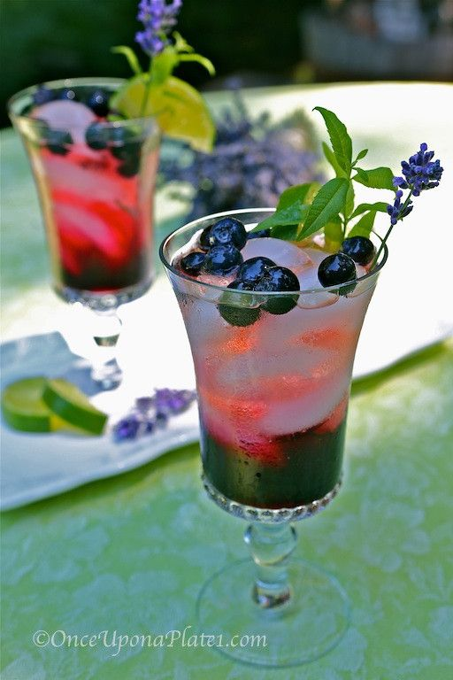 Once Upon a Plate lavender bluberry | A Garden Party | Pinterest