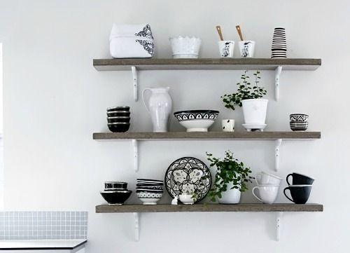 Brocante Keuken Planken : Open planken in de keuken Keuken – Kitchen Pinterest