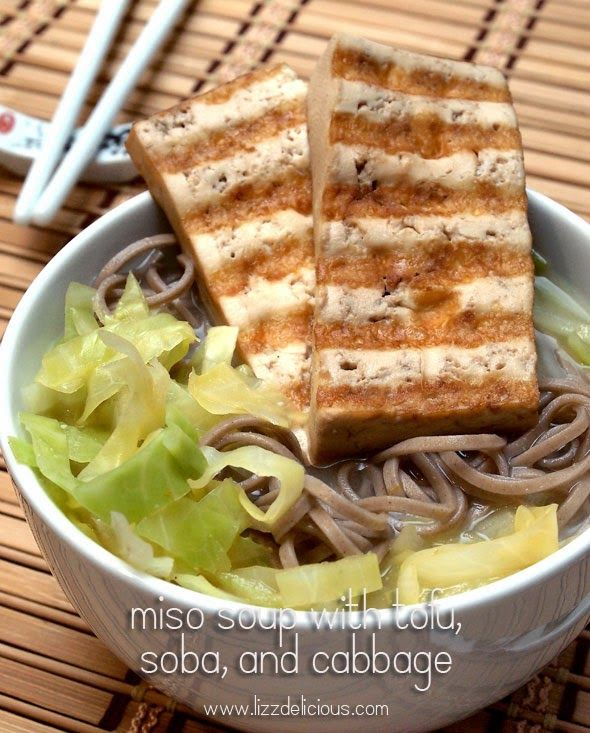 ... | Austin Vegan Food Blog: Miso Soup With Tofu, Soba, and Cabbage