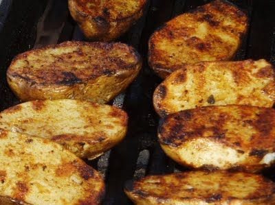 Grilled Baked Potatoes | Food | Pinterest
