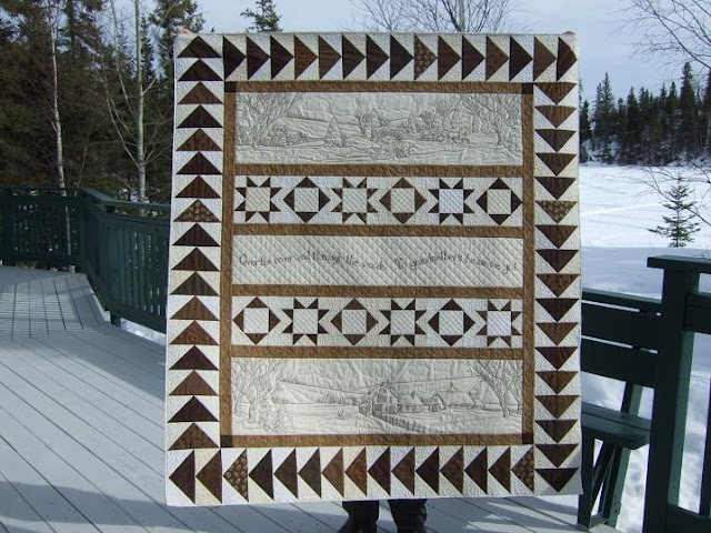 Over the River and Through the Woods... such a beautiful quilt!  Quilting by Kathy at Tamarack Shack.