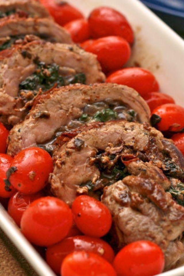 Jacques Pepin's Stuffed Pork Tenderloin | Delicioso :) | Pinterest