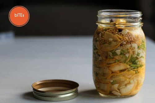 Pickled Yellow Squash, my new favorite pickle! http://katherinesacks ...