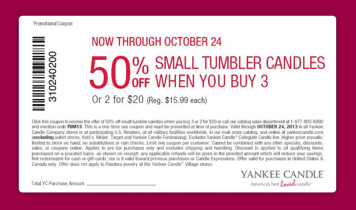 Yankee candle coupon code june 2018