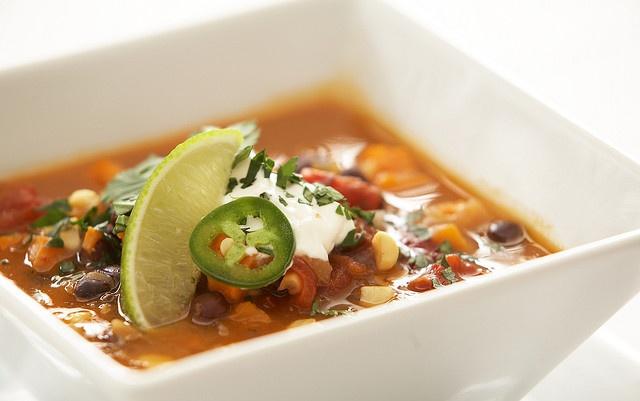 Black Bean & Sweet Potato Soup | [NO] Soup For You | Pinterest