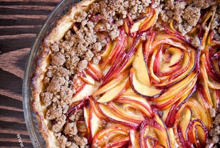 Nectarine Blackberry Open Faced Pie | Lay off me, I'm starving! | Pin ...