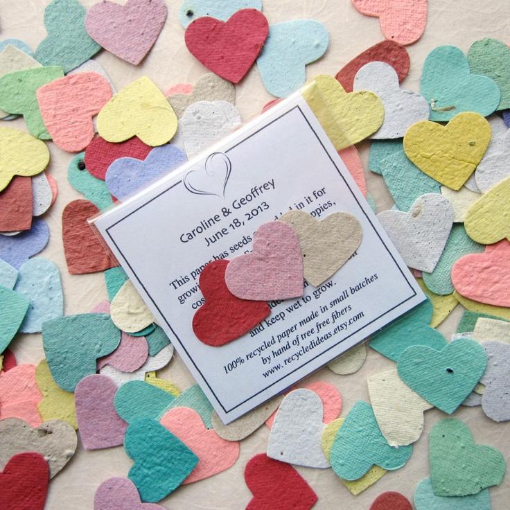 150 Wedding Favors Package Flower Seeds Plantable Paper