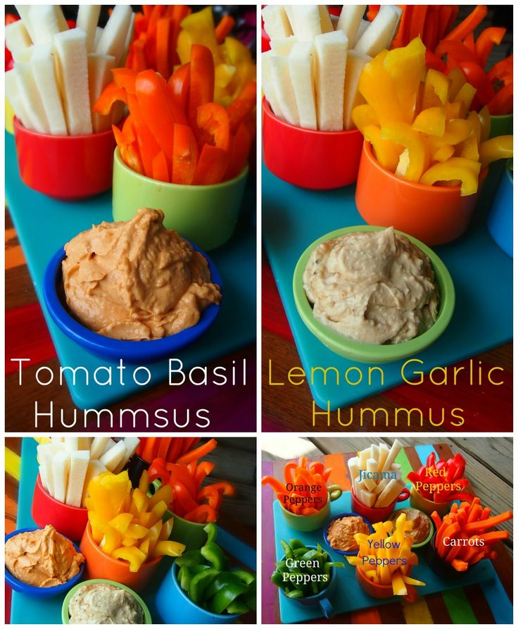 Low Calorie Hummus Made With Chobani Yogurt! Perfect for parties! Tomato Basil and Lemon Garlic!