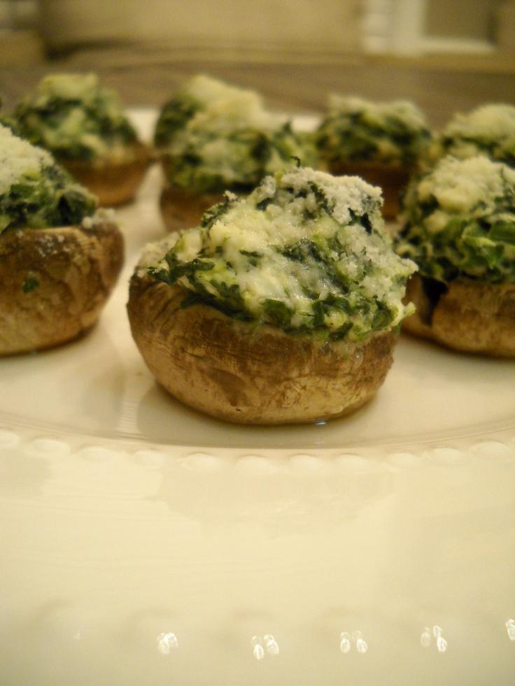 Spinach Stuffed Mushrooms | Food&Recipes | Pinterest