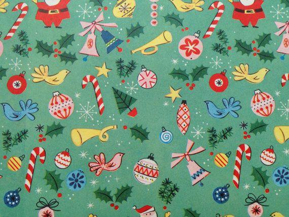 vintage christmas wrapping paper mini christmas