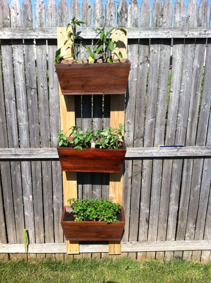 Diy Herb Garden Great For Small Spaces Diy Pinterest