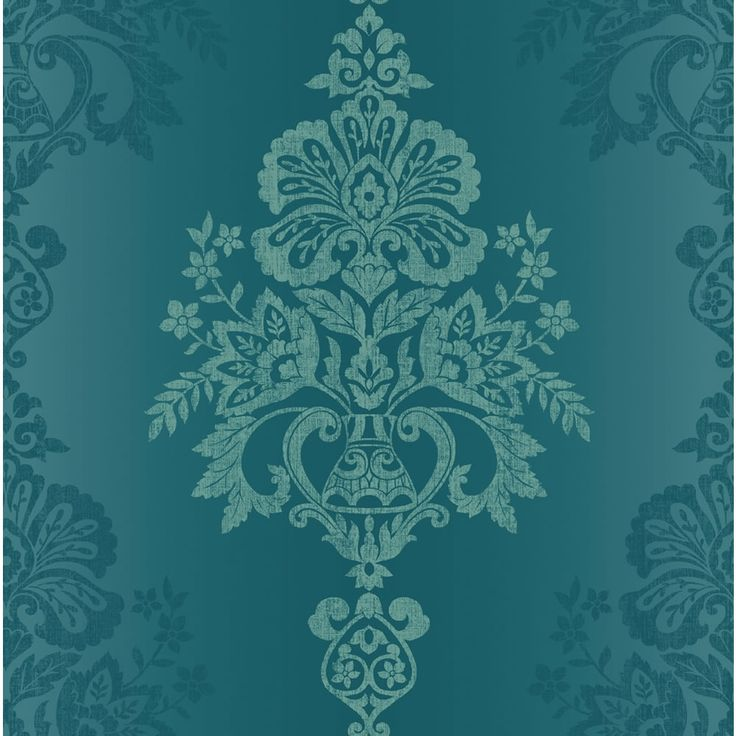Holden k2 jones wallpaper teal 11140 fashion for walls for Teal wallpaper