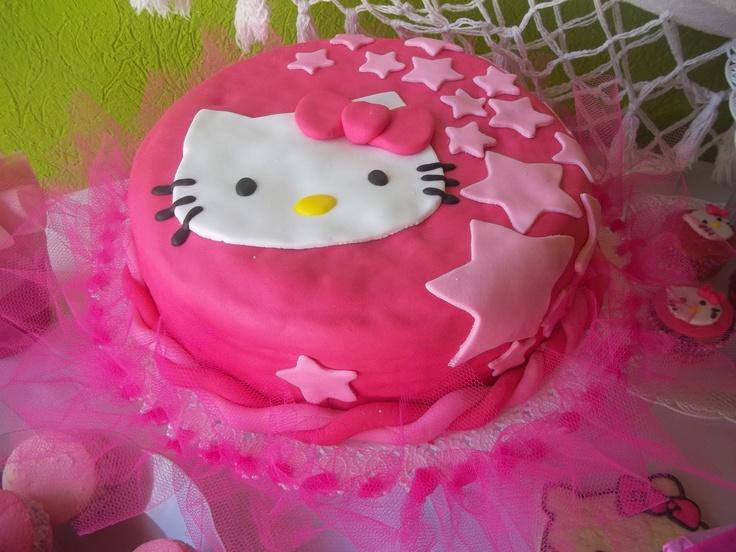 Kitty Decoracion De Tortas ~ torta de Hello Kitty  cumplea?os  Pinterest