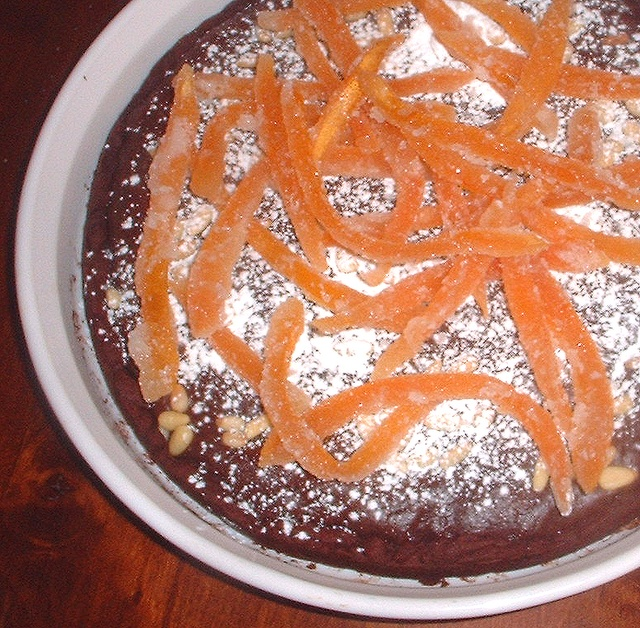 Chocolate, Orange and Pine Nut Tart | pies and tarts | Pinterest