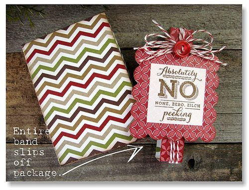 Great gift packaging with the Pop & Place tags and stamps.