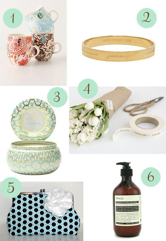 Ideas For Thank You Wedding Gifts : ... Gift Ideas http://www.polkadotbride.com/2012/05/thank-you-gift-ideas