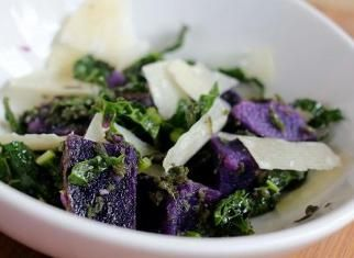Purple Potato Salad with Kale | FOod, Glorious, Food!!!! | Pinterest