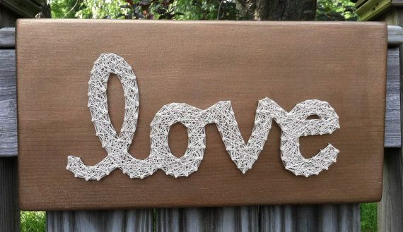 Wedding Gift String Art : Bronze