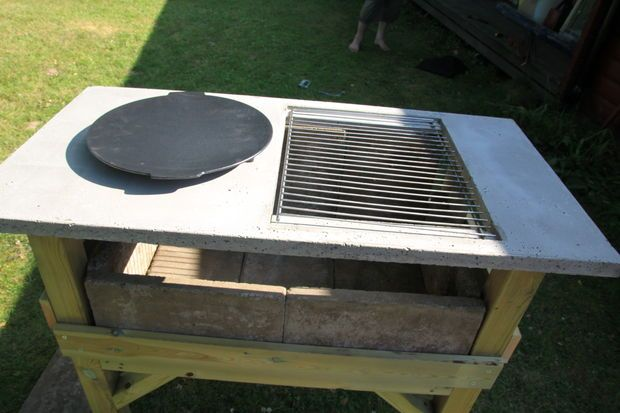 Grill station tutorial outdoor kitchen plans pinterest for Outdoor cooking station plans